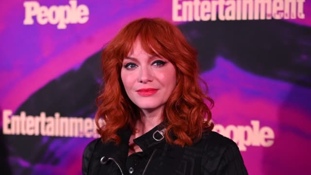christina hendricks at the people entertainment weekly 2019 upfronts at union park on may 13 2019 in new york city - christina hendricks stock videos and b-roll footage