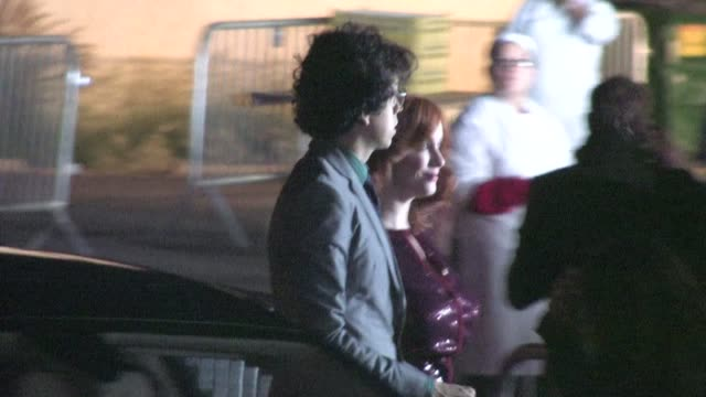 christina hendricks geoffrey arend arrive at the trevor project's 2011 trevor live in hollywood - the trevor project stock videos and b-roll footage