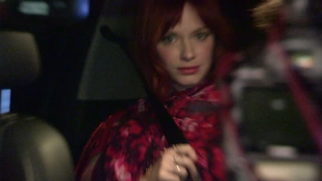 christina hendricks geoffrey arend at chateau marmont in west hollywood celebrity sightings in los angeles ca on 11/19/13 - christina hendricks stock videos and b-roll footage