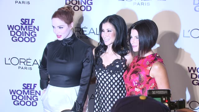 christina hendricks lisa ling and jessica seinfeld at the self magazine's 4th annual women doing good awards at new york ny - christina hendricks stock videos and b-roll footage