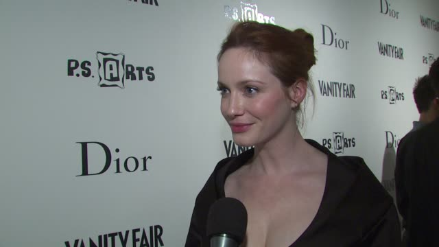 Christina Hendricks on coming out to support her good friend what she thinks of seeing her be the model for once what the best fashion advice she has...