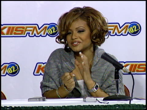 christina milian about her most embarassing moment at the kiis fm jingle ball concert 2004 at the pond of aneheim in aneheim california on december 4... - 2004 stock videos and b-roll footage