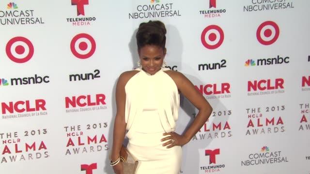 christina milian at 2013 nclr alma awards on 9/27/2013 in pasadena ca - alma awards stock videos and b-roll footage
