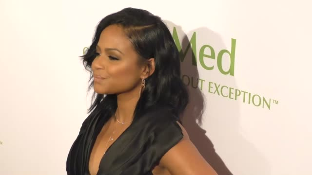 vídeos de stock, filmes e b-roll de christina milian at the altamed health services' power up we are the future gala at the beverly wilshire four seasons hotel in beverly hills... - four seasons hotel