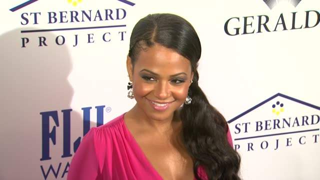Christina Milian at the Southern Style St Bernard Project Event With Ambassador Britney Spears at Beverly Hills CA