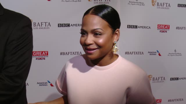 interview christina milian on being at the event and on her picks for awards season at the bafta los angeles awards season tea party at four seasons... - tea party stock videos and b-roll footage