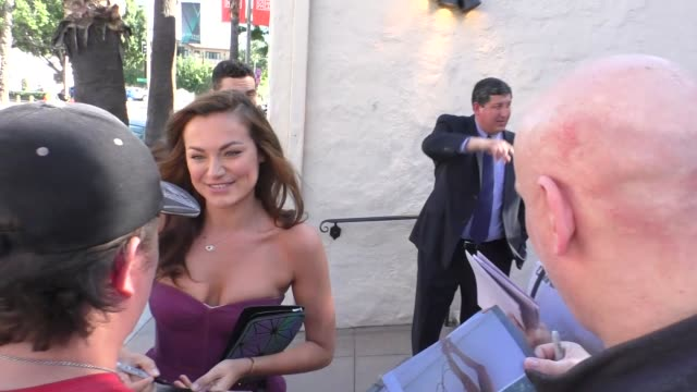christina ochoa arriving to the opening night of belleville at pasadena playhouse in pasadena in celebrity sightings in los angeles - pasadena playhouse stock videos & royalty-free footage