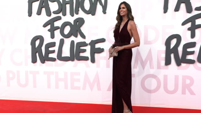 christina pitanguy at fashion for relief fashion catwalk - the 71st cannes fillm festival at aeroport cannes mandelieu on may 13, 2018 in cannes,... - カンヌ・マンデリュー空港点の映像素材/bロール