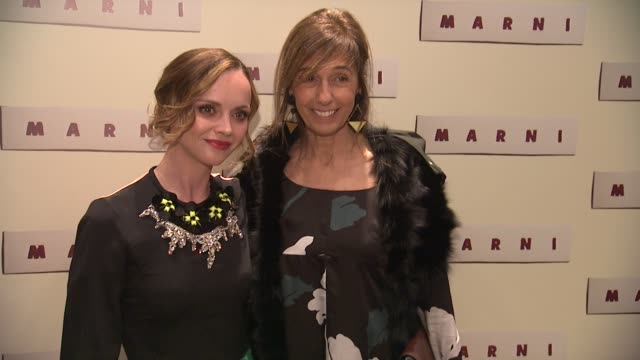 christina ricci and consuelo castiglioni at marni fragrance launch at tbd on february 05 2013 in new york new york - marni stock videos & royalty-free footage