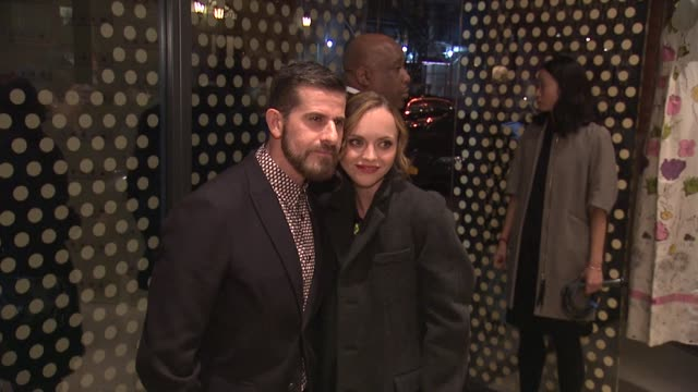 christina ricci and guest at marni fragrance launch at tbd on february 05 2013 in new york new york - marni stock videos & royalty-free footage