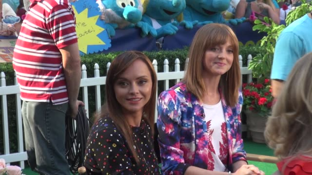 Christina Ricci and Jayma Mays at the 'Good Morning America' studio in New York NY on 7/30/13