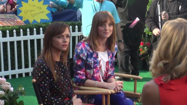 christina ricci and jayma mays at the 'good morning america' studio in new york ny on 7/30/13 - jayma mays stock videos and b-roll footage