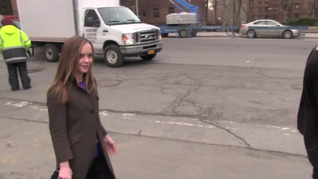 christina ricci arrives at the richard chai show at new york fashion week in new york, 02/07/13 christina ricci arrives at the richard chai show a on... - christina ricci stock videos & royalty-free footage
