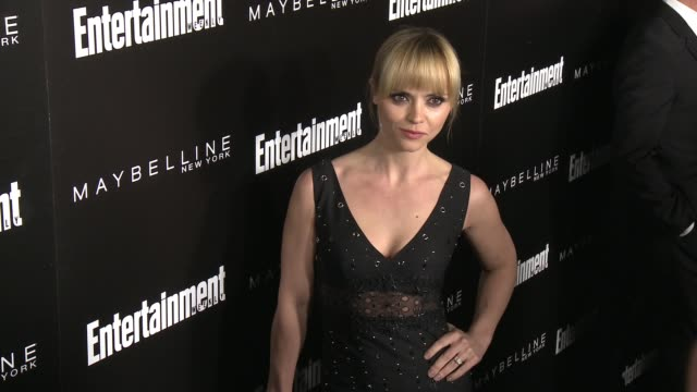 christina ricci at 2016 entertainment weekly screen actors guild party at chateau marmont on january 29 2016 in los angeles california - entertainment weekly stock-videos und b-roll-filmmaterial