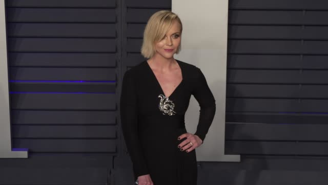 christina ricci at 2019 vanity fair oscar party hosted by radhika jones at wallis annenberg center for the performing arts on february 24, 2019 in... - vanity fair oscar party stock videos & royalty-free footage