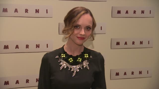 christina ricci at marni fragrance launch at tbd on february 05 2013 in new york new york - marni stock videos & royalty-free footage