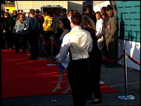 christina ricci at the 1998 mtv movie awards at barker hanger in santa monica california on may 30 1998 - mtv stock videos & royalty-free footage