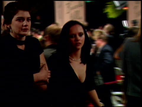 christina ricci at the 1999 academy awards miramax party at the beverly hilton in beverly hills, california on march 21, 1999. - christina ricci stock videos & royalty-free footage