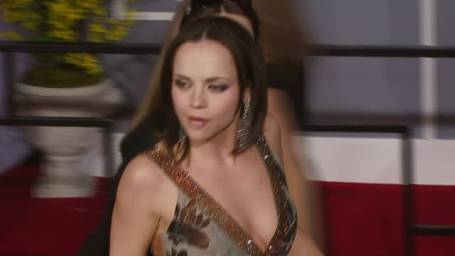 christina ricci at the 2007 grammy awards arrivals at staples center in los angeles, california on february 11, 2007. - christina ricci stock videos & royalty-free footage