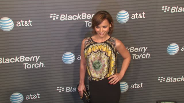 Christina Ricci at the BlackBerry Torch From ATT USA Launch Party at Los Angeles CA