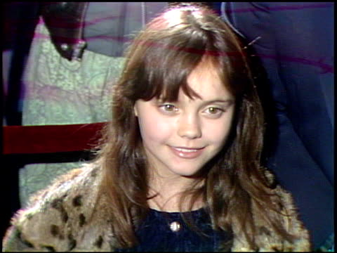 christina ricci at the 'mermaids' premiere at motion picture academy in los angeles, california on december 10, 1990. - christina ricci stock videos & royalty-free footage