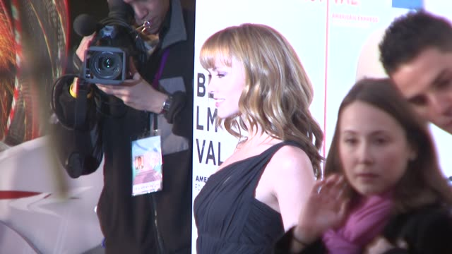 christina ricci at the speed racer premiere at the 7th annual tribeca film festival at borough of manhattan community college / tribeca performing... - community college stock videos & royalty-free footage