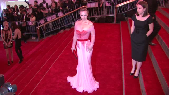 """christina ricci at the """"superheroes: fashion and fantasy"""" costume institute gala at the metropolitan museum of art at the metropolitan museum of art... - christina ricci stock videos & royalty-free footage"""