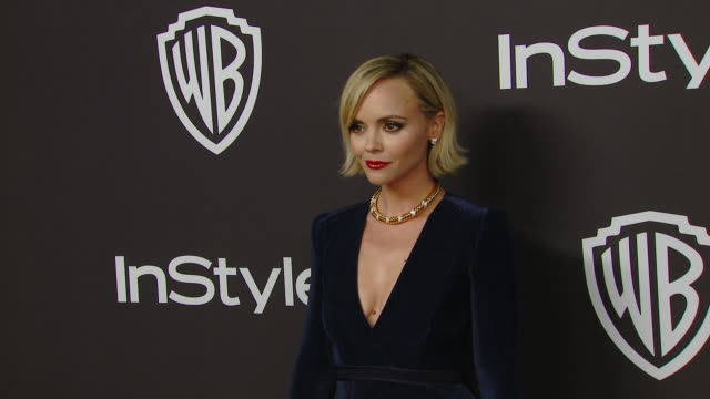 christina ricci at the warner bros. and instyle host 20th annual post-golden globes party at the beverly hilton hotel on january 6, 2019 in beverly... - christina ricci stock videos & royalty-free footage