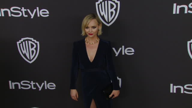 christina ricci at the warner bros. and instyle host 20th annual post-golden globes party at the beverly hilton hotel on january 6, 2019 in beverly... - the beverly hilton hotel stock videos & royalty-free footage