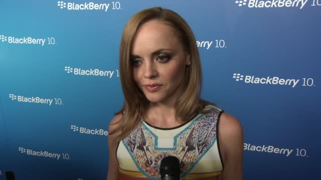 INTERVIEW Christina Ricci on Blackberry on her favorite features at BlackBerry Celebrates The Launch Of BlackBerry Z10 Smartphone on 3/20/13 in Los...