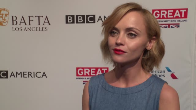 christina ricci on what she enjoys about the bafta awards season tea party. on getting to celebrate all those who have been nominated at 2017 bafta... - christina ricci stock videos & royalty-free footage
