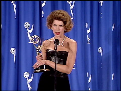 christine baranski at the 1995 emmy awards press room at the pasadena civic auditorium in pasadena california on september 10 1995 - pasadena civic auditorium stock videos & royalty-free footage