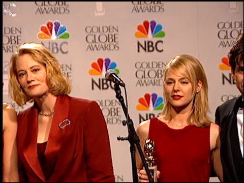 Christine Baranski at the 1996 Golden Globe Awards at the Beverly Hilton in Beverly Hills California on January 21 1996