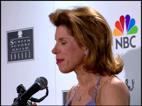 christine baranski at the 1996 screen actors guild sag awards at santa monica civic auditorium in santa monica california on february 25 1996 - santa monica house stock videos & royalty-free footage