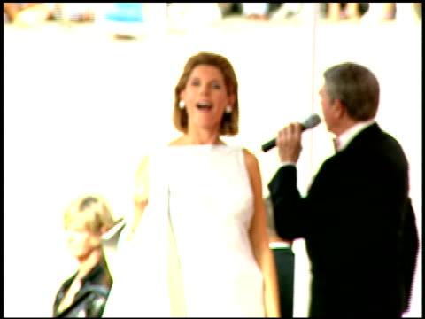 Christine Baranski at the 1997 Emmy Awards arrivals at the Pasadena Civic Auditorium in Pasadena California on September 14 1997