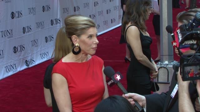 Christine Baranski at the 62nd Annual Tony Awards at New York NY