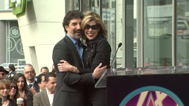 Christine Baranski at the Chuck Lorre Receives a Star on the Hollywood Walk of Fame at Los Angeles CA