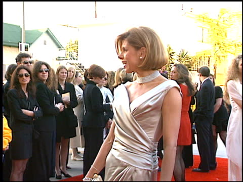 christine baranski at the screen actor's guild awards at the shrine auditorium in los angeles, california on february 22, 1997. - shrine auditorium stock-videos und b-roll-filmmaterial