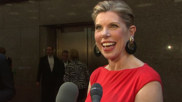 Christine Baranski on being here to support her cast and what makes the Tony Awards different from other award shows at the 62nd Annual Tony Awards...