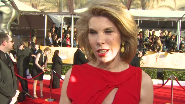 Christine Baranski on who she's wearing and what she loved about it what makes the SAG Awards different than other award shows how it feels to be...