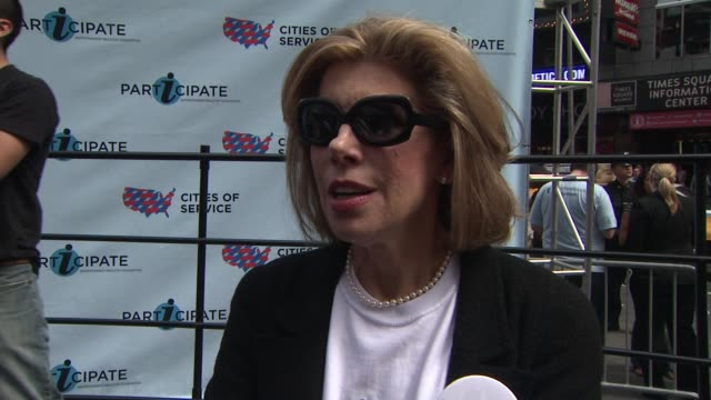 Christine Baranski on why she's here today and the star studded event On why iparticipate is so important On EIF's campaign to include volunteerism...