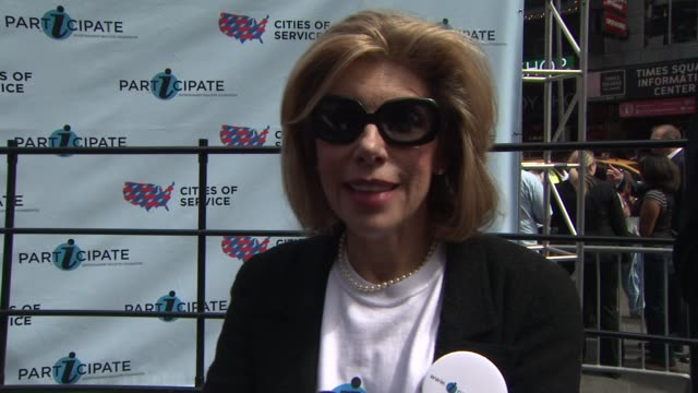 Christine Baranski talks about how volunteering makes people feel good at the Entertainment Industry Foundation Announces Two Major Volunteer...
