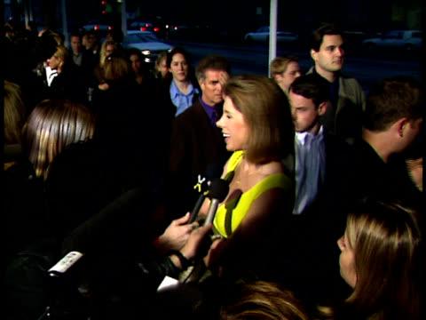 Christine Baranski talks to reporters on the red carpet