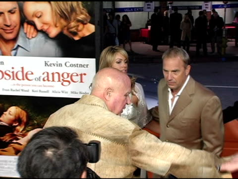 christine baumgartner and kevin costner at the 'the upside of anger' los angeles premiere at the mann national theatre in westwood california on... - kevin costner stock videos & royalty-free footage