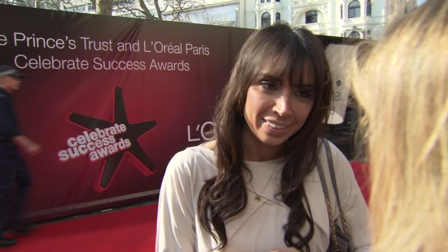 christine bleakley at the the prince's trust celebrate success awards arrivals at london england. - christine bleakley stock videos & royalty-free footage