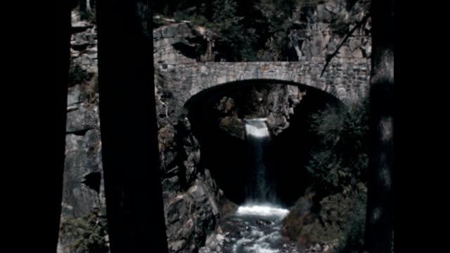 christine falls is a waterfall on van trump creek in pierce county washington as seen in this archival film - ekoturism bildbanksvideor och videomaterial från bakom kulisserna