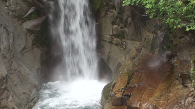 cu, tu, christine falls, mount rainier national park, washington, usa - mt rainier national park stock videos & royalty-free footage