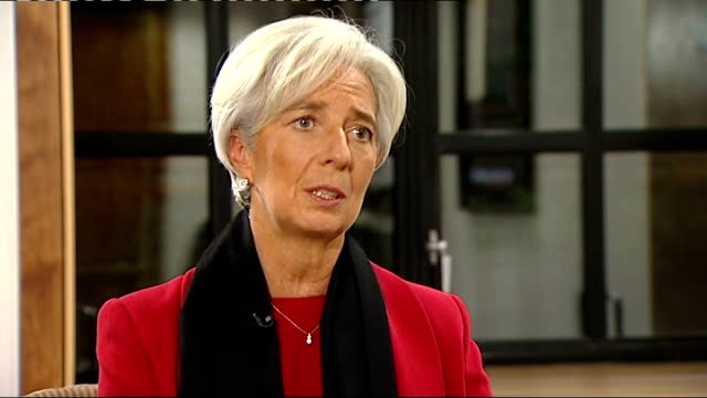 christine lagarde endorses britain's economic policies england london westminster int christine lagarde interview sot those countries that have... - stabilisers stock videos & royalty-free footage