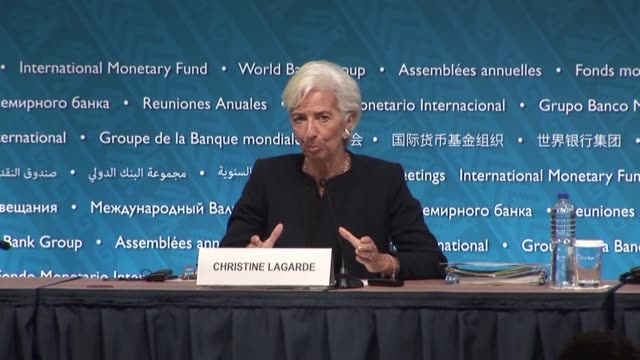Christine Lagarde managing director of the IMF recommended that policy makers update traditional recipes at annual meetings with the World Bank in...