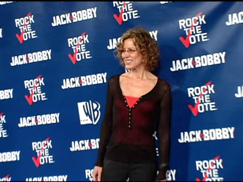 christine lahti and matt long at the rock the vote at warner brothers in burbank, california on september 29, 2004. - rock the vote stock-videos und b-roll-filmmaterial